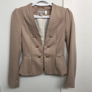 H&M blazer with gold buttons